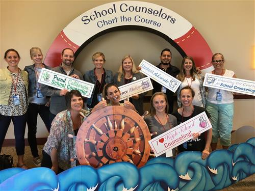 Counselors at 2018 school counselor conference