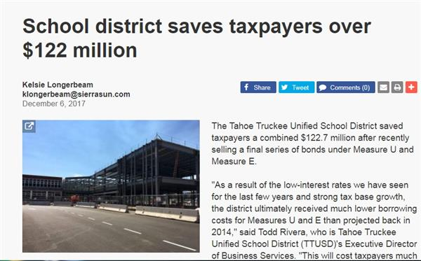 School district saves taxpayers over $122 million