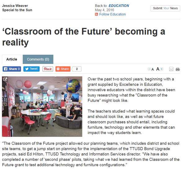 Classroom of the Future becoming a reality