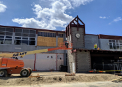 Photo of construction at Truckee High School
