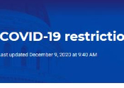 screenshot from State's COVID19 webpage about restrictions