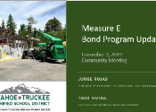 Image of Measure E Bond Program presentation first slide