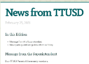 News from TTUSD