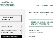 screenshot of elementary school's resource page