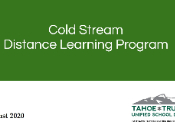 Presentation from Parent Meetings on the Cold Stream Distance Learning Program