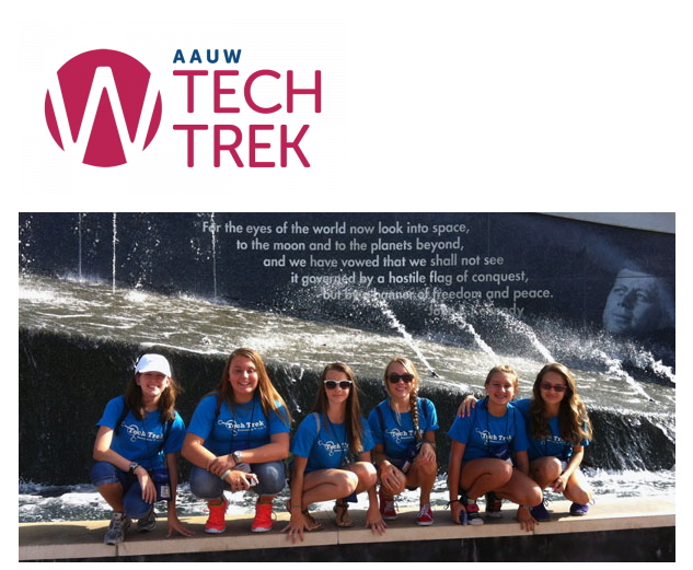 image from Tech Trek webpage of girls at camp smiling