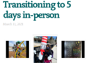 Transitioning to 5 days header on newsletter