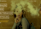 Image of a website against youth vaping