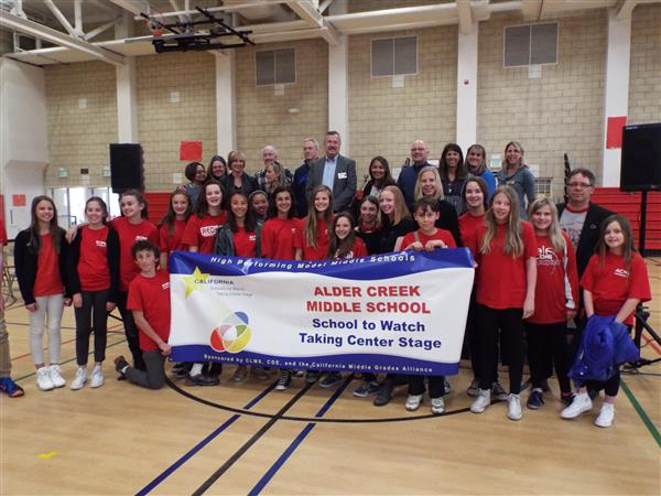 Alder Creek Middle School is a California School to Watch