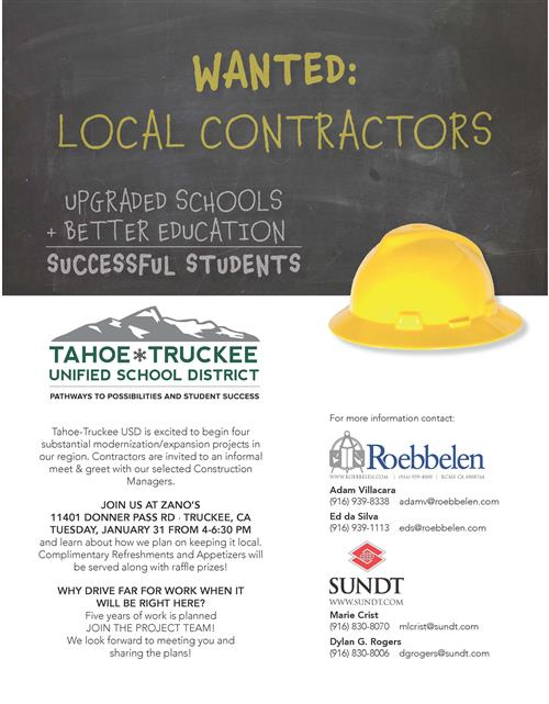 Wanted: Local Contractors